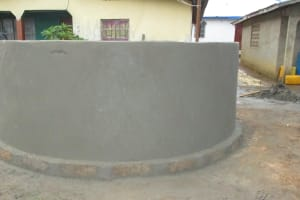 The Water Project: Lungi, Rotifunk, King Fuad Hafis Islamic School -  Plastered Well Wall