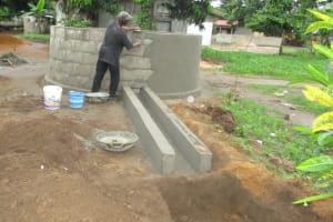 The Water Project: Lungi, Rotifunk, King Fuad Hafis Islamic School -  Plastering Well Wall And Drainage
