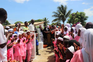 The Water Project: Lungi, Rotifunk, King Fuad Hafis Islamic School -  Students And Community Members At The Well Dedication