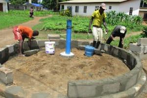 The Water Project: Lungi, Rotifunk, King Fuad Hafis Islamic School -  Well Wall Foundation