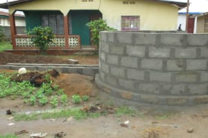 The Water Project: Lungi, Rotifunk, King Fuad Hafis Islamic School -  Well Wall Under Construction