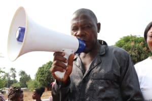 The Water Project: Targrin Health Post -  Ibrahiiim Kamara Making Statement