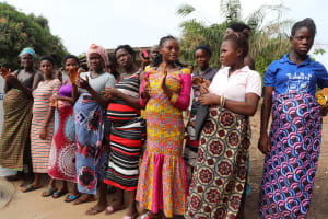 The Water Project: Targrin Health Post -  People Sing At The Dedication