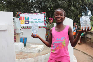 The Water Project: Lungi, Suctarr, 10 Khalil Lane -  Child Happy For Clean Water