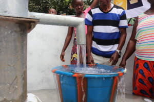 The Water Project: Lungi, Suctarr, 10 Khalil Lane -  Clean Water Flowing