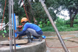 The Water Project: Lungi, Suctarr, 10 Khalil Lane -  Drilling
