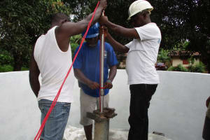 The Water Project: Lungi, Suctarr, 10 Khalil Lane -  Pump Installation