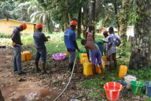 The Water Project: Lungi, Suctarr, 10 Khalil Lane -  Yield Test