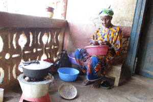 The Water Project: Lungi, Masoila, #3 Kamara Street -  Yamina Conteh Cooking