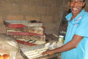 The Water Project: Lungi, Masoila, #3 Kamara Street -  Processing Bread
