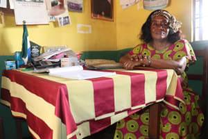 The Water Project: Lungi, Lungi Town, Holy Cross Primary School -  Mrs Elizabeth J Massaqoi Nee Musa School Head Teacher
