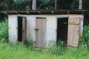 The Water Project: Lungi, Lungi Town, Holy Cross Primary School -  Old School Latrine