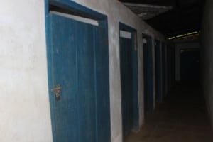 The Water Project: Lungi, Lungi Town, Holy Cross Primary School -  School Latrine