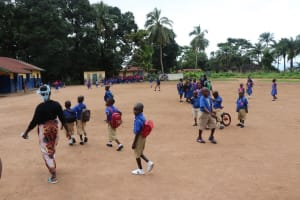 The Water Project: Lungi, Lungi Town, Holy Cross Primary School -  Students Playing