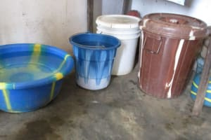 The Water Project: Lungi, Lungi Town, Holy Cross Primary School -  Water Storage
