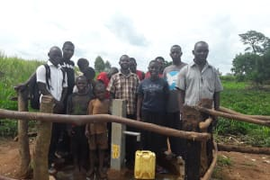 The Water Project:  Beneficiaries Posing By The Water Point