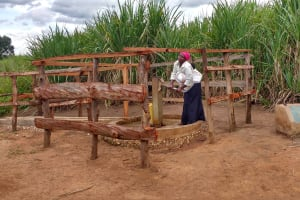 The Water Project:  Kunihira Roselyne Pumps Water