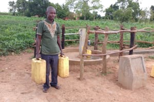 The Water Project:  Kyaligonza Vincent At The Water Well