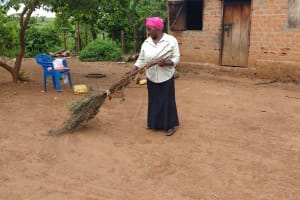 The Water Project:  Roslyne Kunihira Sweeping At Home
