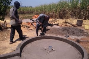 The Water Project:  Well Pad Cement Dries
