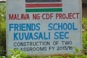 The Water Project: Friends Kuvasali Secondary School -  School Sign