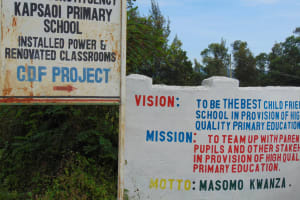 The Water Project: Kapsaoi Primary School -  School Sign