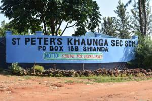 The Water Project: St. Peter's Khaunga Secondary School -  School Sign
