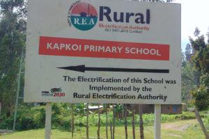 The Water Project: Kapkoi Primary School -  School Sign