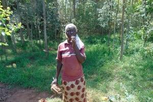 The Water Project: Shamakhokho Community, Imbai Spring -  Village Elder Whistles To Community To Start Mobilizing Materials