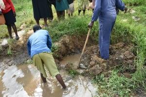 The Water Project: Sichinji Community, Kubai Spring -  Exposing The Springs Eye