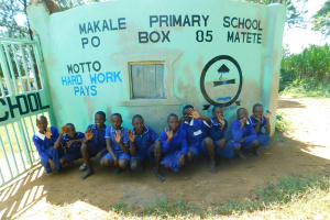 The Water Project: Makale Primary School -  Students Pose In Front Ot Schools Gate
