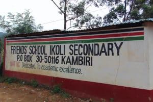 The Water Project: Friends School Ikoli Secondary -  School Gate