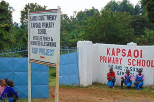 The Water Project: Kapsaoi Primary School -  Students Pose Outside Of School Gate