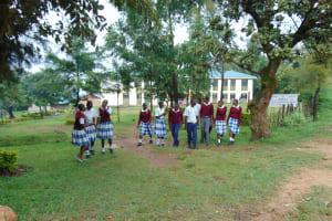 The Water Project: Friends Secondary School Shirugu -  Students Walking Through School Gate