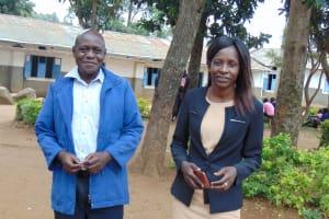 The Water Project: Kapkoi Primary School -  Head Teacher Mrs Shira Aidah And Mr Wilfed Jideyi