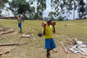 The Water Project: Musasa Primary School -  Students Carry Bricks For Construction