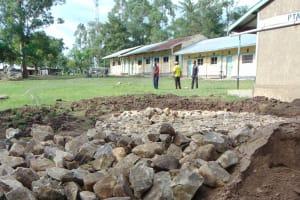 The Water Project: Ematiha Secondary School -  Rain Tank Construction Site