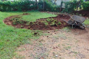 The Water Project: Womulalu Special School -  Clearing The Rain Tank Site