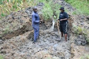 The Water Project: Sichinji Community, Kubai Spring -  Excavation