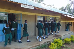 The Water Project: Friends Kuvasali Secondary School -  Students Leaving The Classrooms