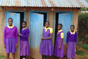 The Water Project: Kapsogoro Primary School -  Girls At Their Latrines