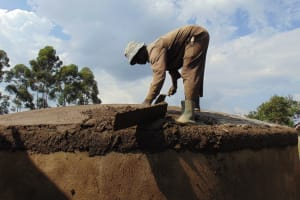 The Water Project: Musasa Primary School -  Cementing The Dome