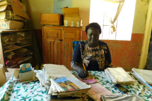 The Water Project: Makale Primary School -  Head Teacher Mrs Grace Simwa At Work