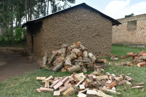 The Water Project: ACK St. Peter's Khabakaya Secondary School -  Kitchen With Firewood Outside