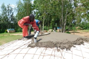 The Water Project: Enyapora Primary School -  Cementing The Dome