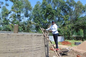 The Water Project: Ematiha Secondary School -  Field Officer Supervising Work