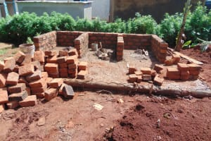 The Water Project: Womulalu Special School -  Latrine Construction