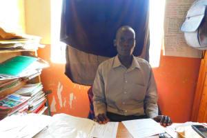 The Water Project: Makale Primary School -  Deputy Head Teacher Mr Zadock Mausi Ochieng