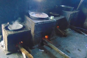 The Water Project: Friends Kuvasali Secondary School -  Food Cooking On Stoves Inside Kitchen