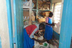 The Water Project: Kapsaoi Primary School -  Pupils In The Library